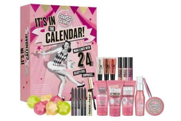 the best value beauty advent calendars £50 or under soap and glory