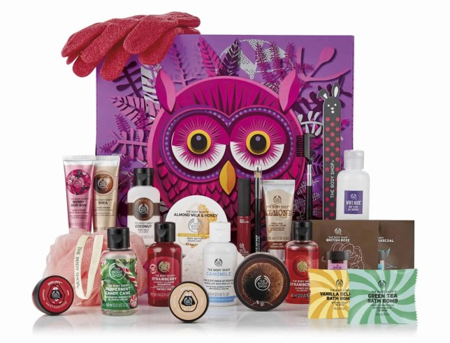 the best value beauty advent calendars £50 or under the body shop olivia