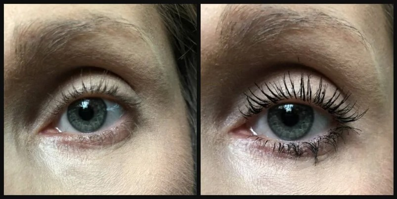 Get endless lashes with L'Oreal Unlimited Mascara before and after