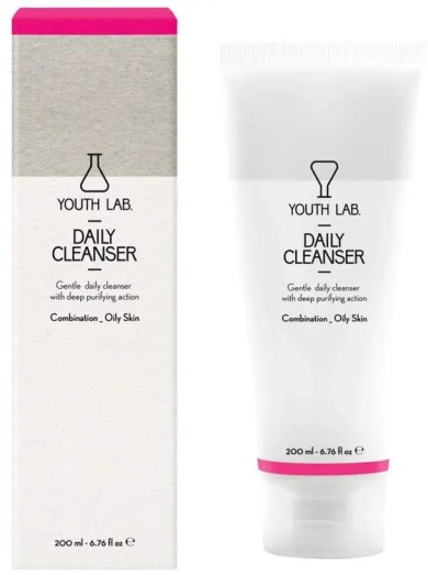 ultimate skincare products for oily skin youth lab daily cleanser