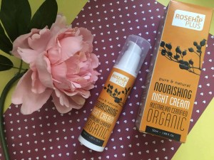 Revitalise your skin with the rosehip oil infused skincare range Rosehip Plus nourishing night cream