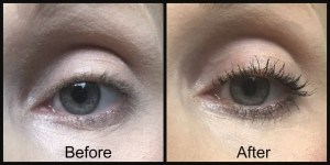 Maybelline Snapscara makes applying mascara as easy as 123 before and after