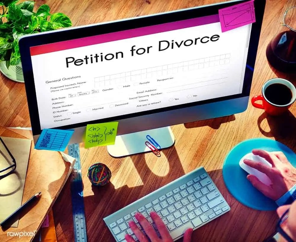 how to set up a divorce petition