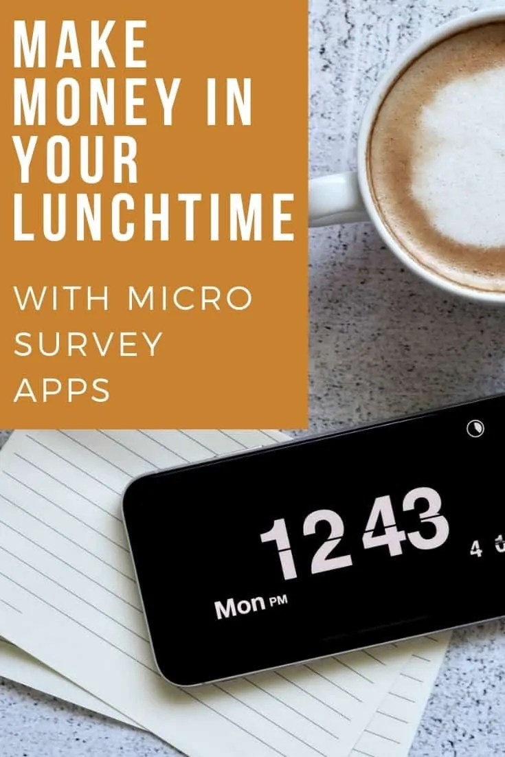 Make money in your lunchtime with micro survey apps 1