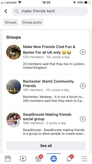 use facebook groups to make friends