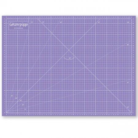 glitzerpuppi tapis de decoupe auto cicatrisant a2 60x45cm recto verso imprime rose violet