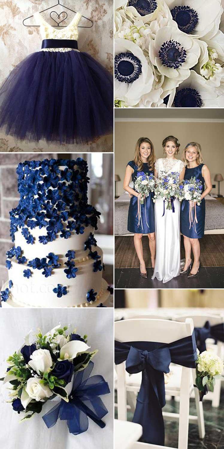 Midnight Dreams Classic Navy Wedding Ideas  Glitzy Secrets