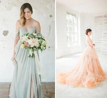 Beautiful Coloured Wedding Dresses For Spring Glitzy Secrets