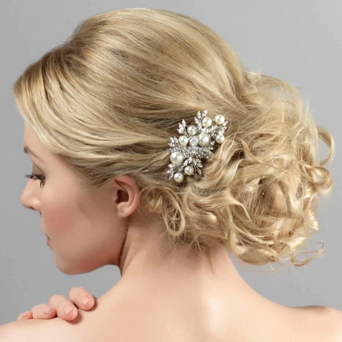 Enchanting Pearl Hair Comb Accessory At Glitzy Secrets