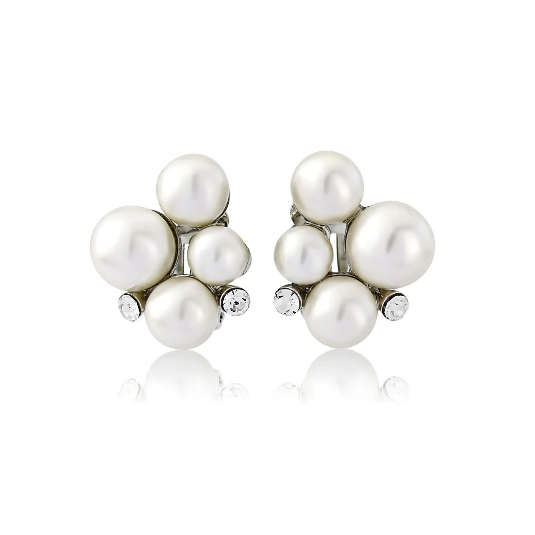 Statement of Pearl Clip On Earrings
