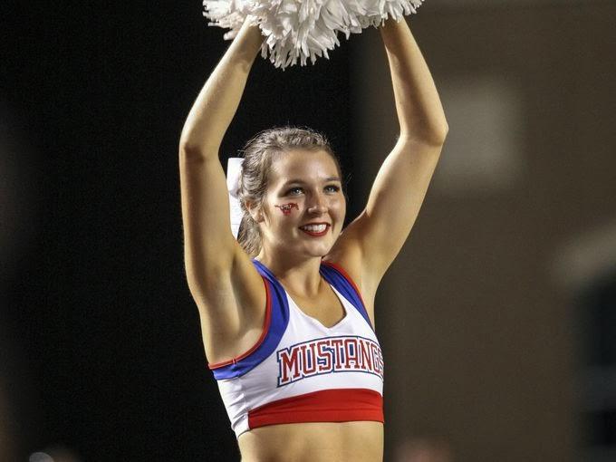 Southern Methodist Mustangs cheerleader