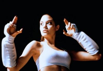 Angelina as a cyborg female in CYBORG 2