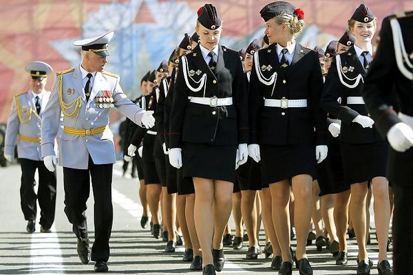 Attractive Women Police Force of Russia