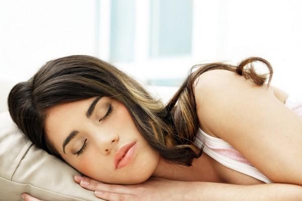 beautiful girl sleeping well