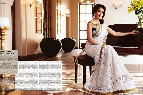 Madhuri Dixit on Hello India Cover