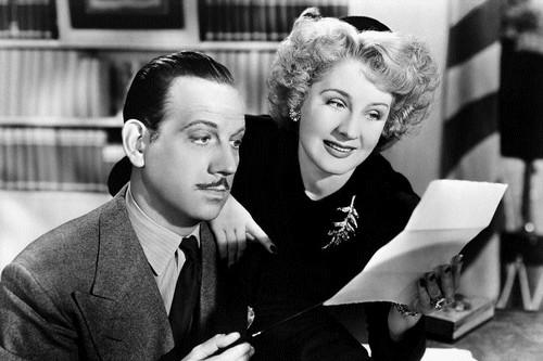 Melvyn Douglas and Norma Shearer