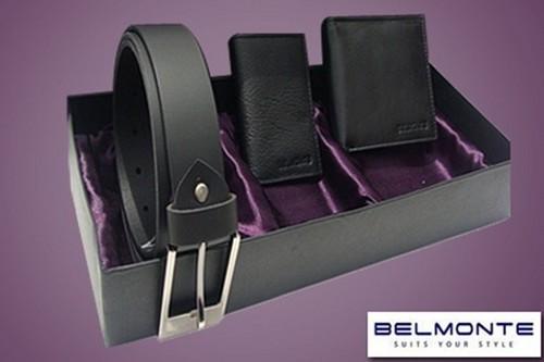 Wallet, belt gift set