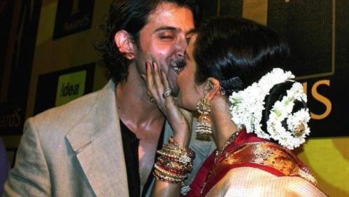 Hrithik Roshan and Rekha