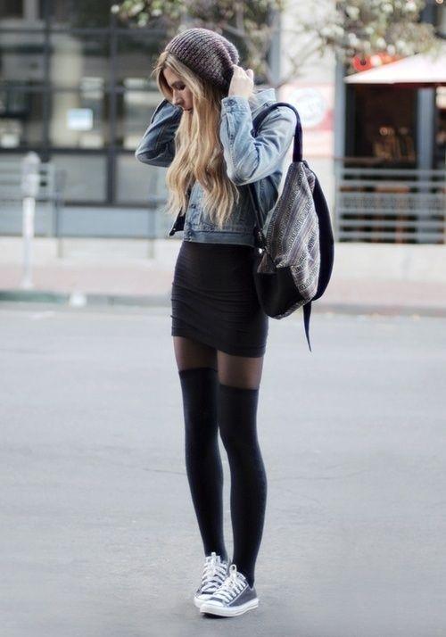 Little Black dress with Denim