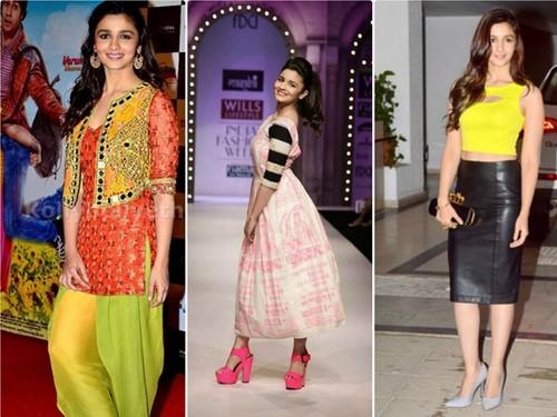 Alia Bhatt Neons dresses