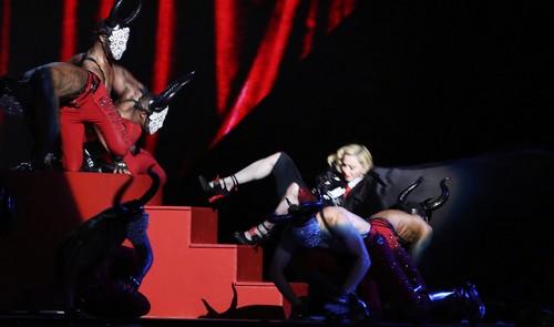 Madonna's 2015 Brit Tumble