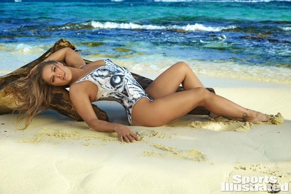 Ronda Rousey Body Paint Behind The Scene SI Swimsuit 2016