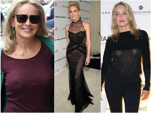 Sharon Stone Spotted in NO UNDERWEAR
