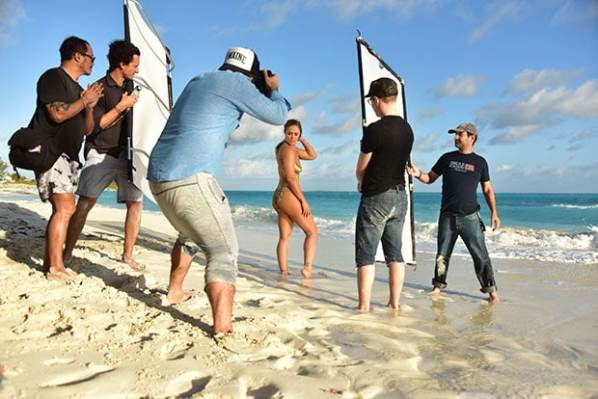 Ronda Rousey Body Paint Behind The Scene