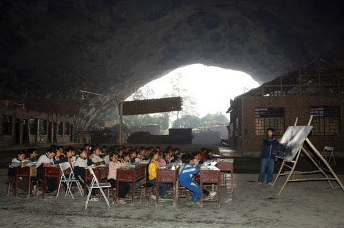 Dongzhong Mid-Cave Primary School In China