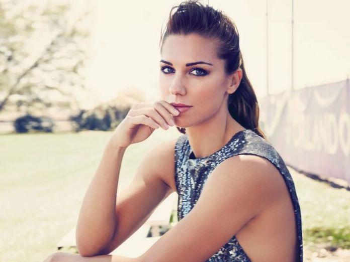 Beautiful Woman Football Player Alex Morgan