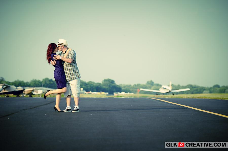Tara & Chuck's Airport Engagement Photos