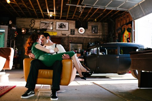 Patti & Jeff's Vintage Hot Rod Engagement Photos