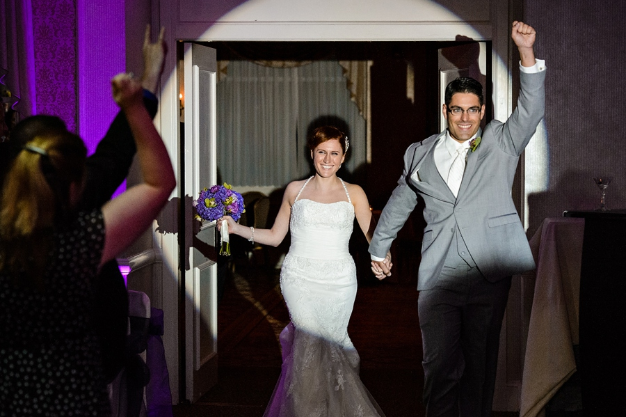 NJ Wedding Bride and Groom Entrance Photo