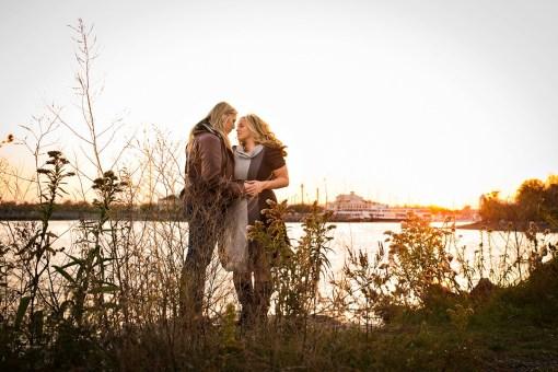 Jessica & Danielle's Jersey City Engagement Photos