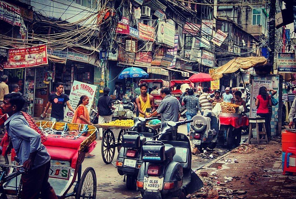 Streets in old Delhi