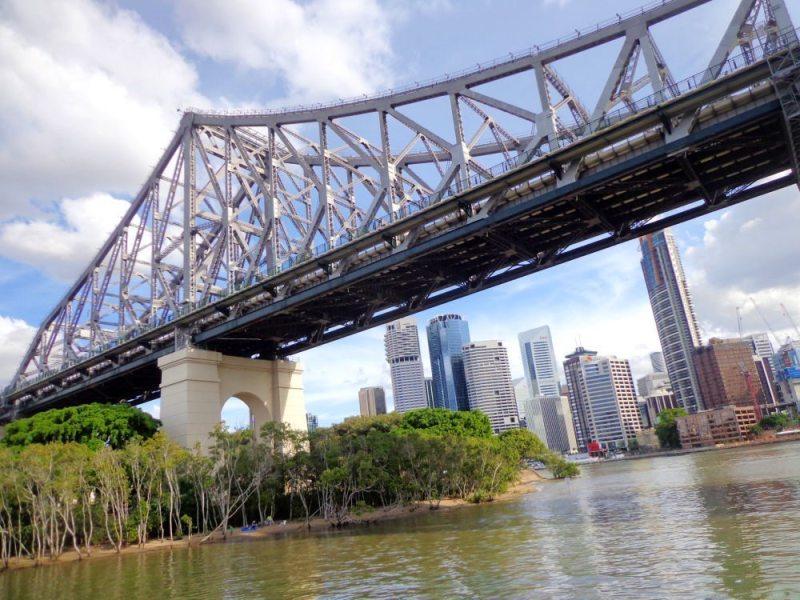 Image going under story bridge in Brisbane