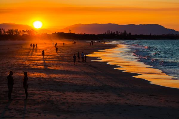 Sunset at Byron Bay Australia