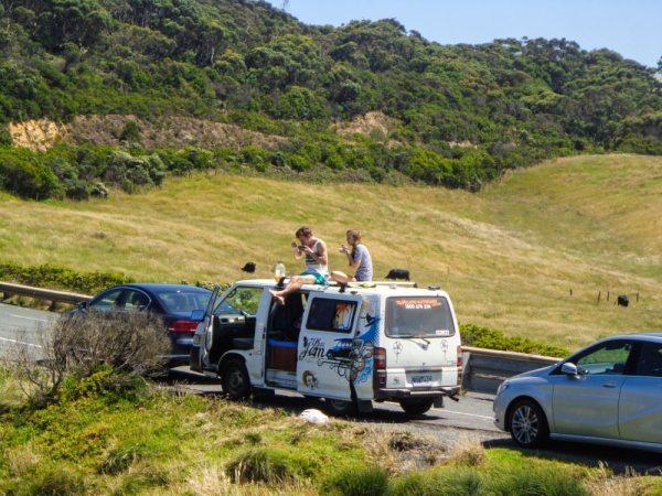 great ocean road campervan picnic