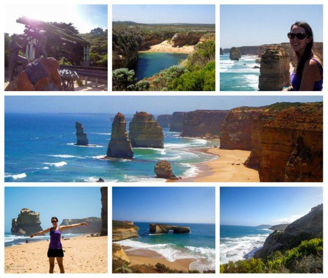 great ocean road trip australia collage