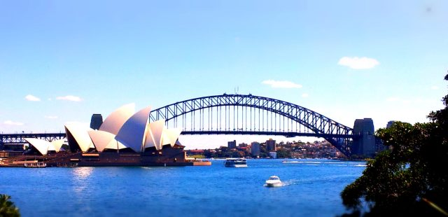 sydney harbour and opera house view
