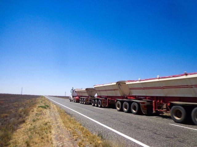 outback road train