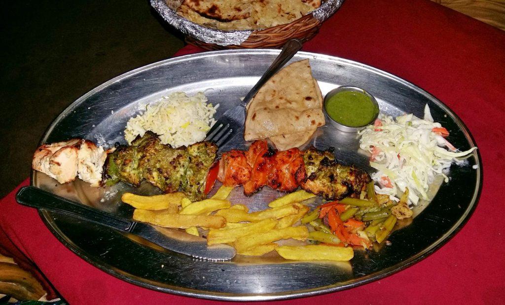 Mixed kebab platter at Dhum Biryani
