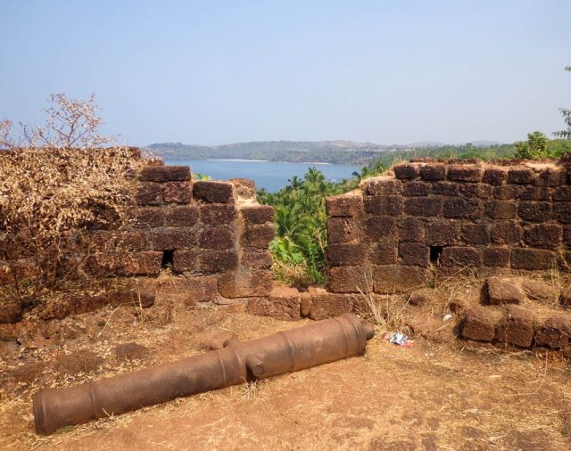 The view from the Cabo de Rama Fort, South Goa