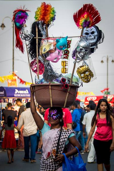 The streets of Panjim party to celebrate Goa's annual Carnival in February