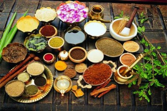 Plants and spices used for ayurveda