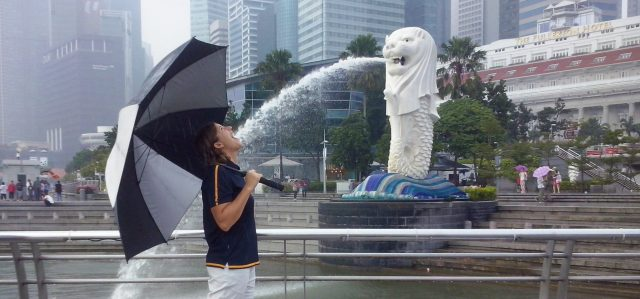 Malene exploring Singapore while working as a tour guide.find out how to become a tour guide