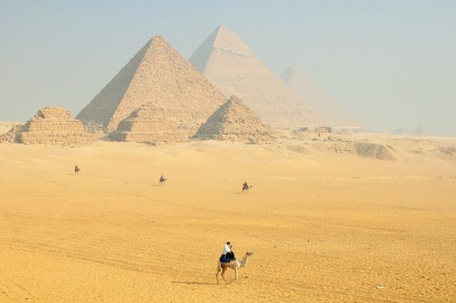 pyramids in egypt in one of the cheapest places to travel in africa