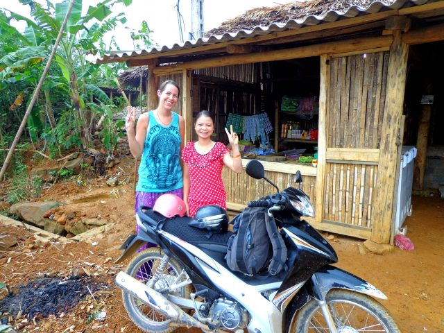 Saying goodbye very grateful to our hosts