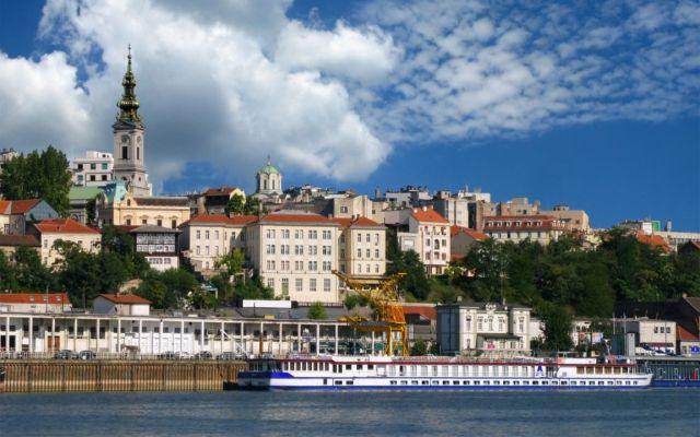 The Danube river in Belgrade, Serbia