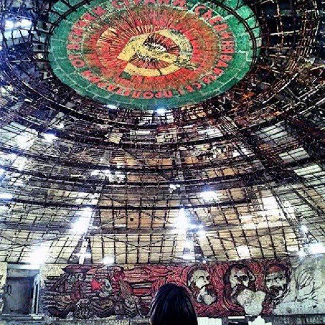 Inside Buzludzha